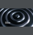 abstract background with silver concentric rings vector image vector image