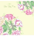 Background with peonies and pink rose vector image vector image