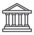 bank building line icon architecture and column vector image