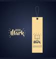 bookmark label tag design vector image