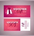 bright set of gift voucher 100 dollars discount vector image