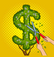 bush in the form of dollar sign pop art vector image