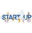 business startup arrow up professional growth vector image