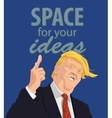 Cartoon Portrait of Donald Trump Giving A Speech vector image vector image