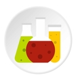 Chemical tubes icon flat style vector image
