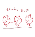 chicken walking vector image vector image