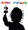 child birthday silhouette vector image vector image