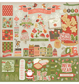 Christmas scrapbook set - decorative elements vector image