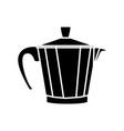 coffee maker steel vector image