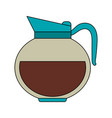 color image cartoon rounded glass jar of coffee vector image