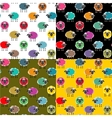 Colorful Seamless Sheep Pattern vector image vector image