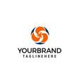 community hand logo design concept template vector image