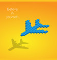 construction kit elements airplane with shadow vector image