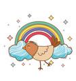 cute little animal cartoon vector image