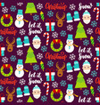 dark christmas seamless pattern vector image vector image