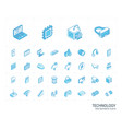 digital technology isometric line icons 3d vector image