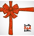Doodle Red Ribbon vector image