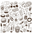 fast food - doodles vector image vector image