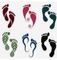 footprint silhouettes vector image vector image
