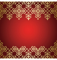 golden vintage ornament on red background vector image vector image