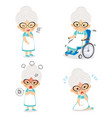 grandma in various postures and expressing vector image vector image