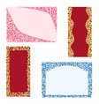 greeting cards on a white background vector image vector image