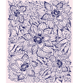 hand-drawn floral pattern vector image vector image