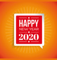 happy new year greetings sign vector image