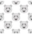 head panda seamless pattern in entangle style vector image