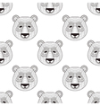 Head Panda seamless pattern in zentangle style vector image vector image