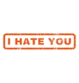 I Hate You Rubber Stamp vector image vector image