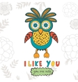 I like you you are so cute Colorful concept card vector image vector image
