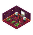 isometric casino robbery concept vector image vector image