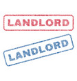 landlord textile stamps vector image vector image