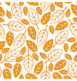 leaves seamless autumn vector image vector image