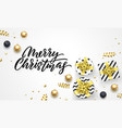 merry christmas holiday background template of vector image vector image