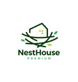 nest house home logo icon vector image vector image