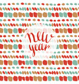 new year fashion pattern seamless xmas background vector image vector image