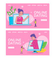 online dating girl and man vector image vector image