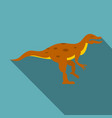 ornithopod dinosaur icon flat style vector image vector image