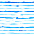 pattern with watercolor blue lines vector image vector image