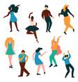 people dancing set men and women dancer vector image vector image