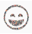 people emoticon smiley icon vector image vector image