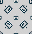 picture icon sign Seamless pattern with geometric vector image vector image