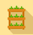 plant pot stand icon flat style vector image vector image