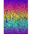 psychedelic waves purple color gradient rainbow vector image vector image