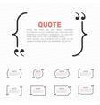 Quotes on a white background vector image vector image