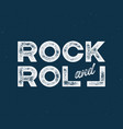 rock and roll t-shirt and apparel design with vector image