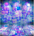 Room with stained squares ornament vector image vector image