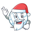 santa volley ball character cartoon vector image vector image